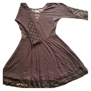 Free People Bohemian Dress with Netted Cutouts